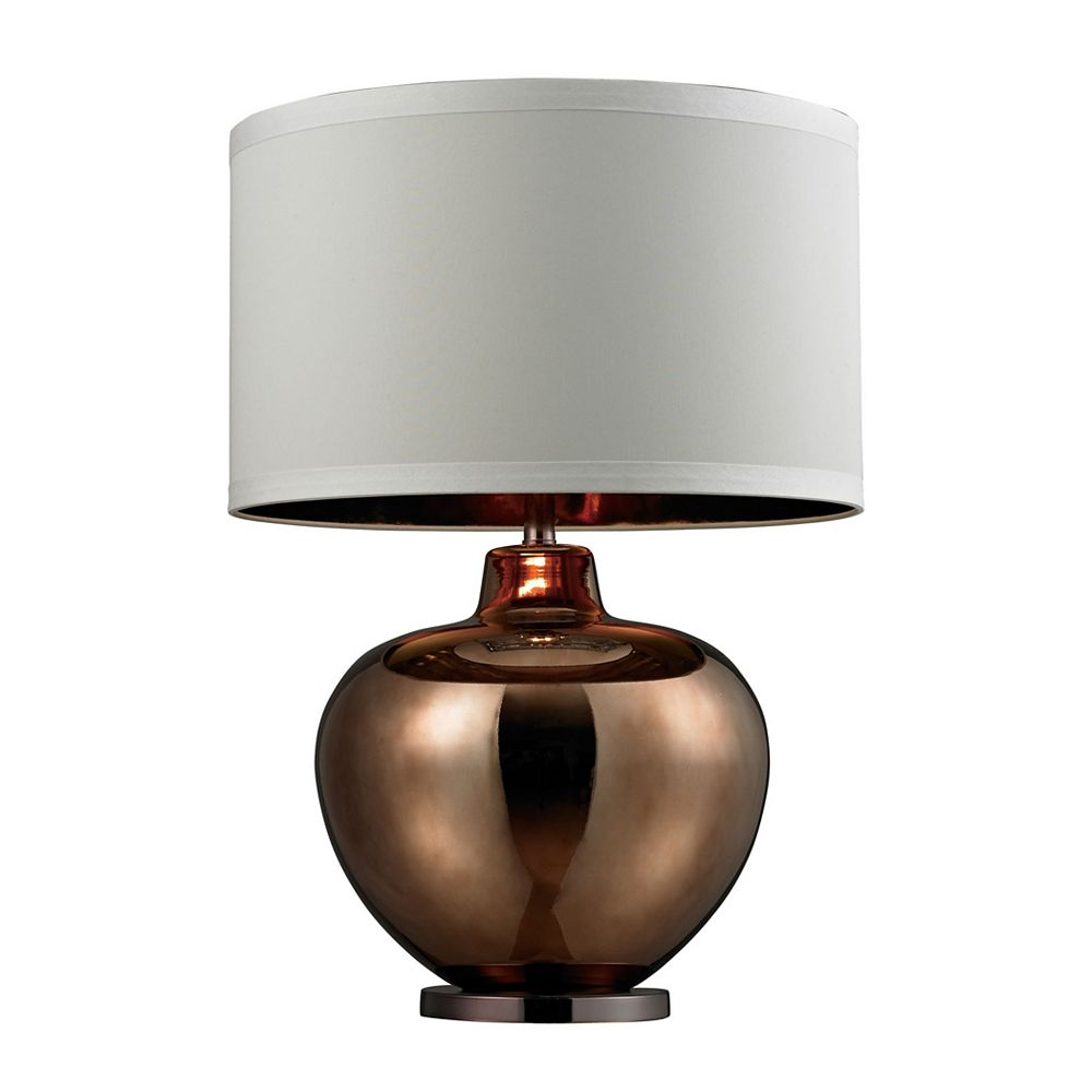 Titan Lighting 30 Inch Oversized Blown Glass Table Lamp in Bronze Plated Finish