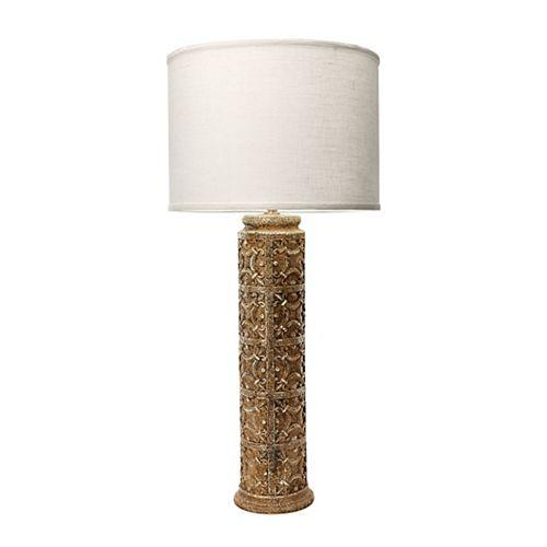 Lampe Fleur de Lis de 31po au fini acier usé
