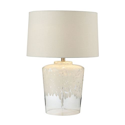 Lampe de table Flurry Frit Well de 25po en verre Boutique