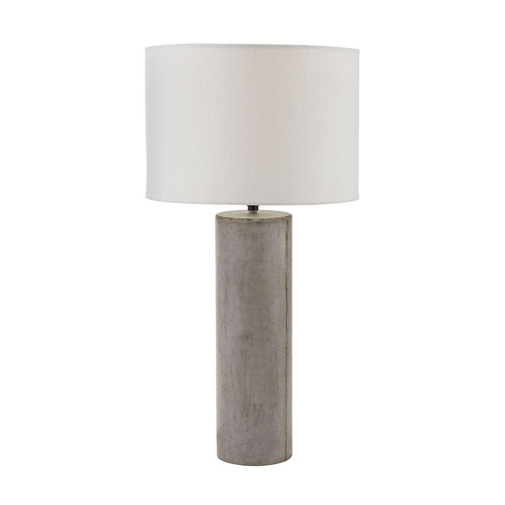 Titan Lighting Lampe ronde Cubix de 29po au fini gris ciré