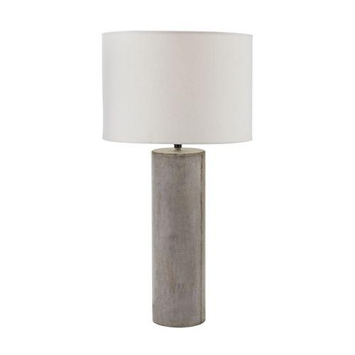 Lampe ronde Cubix de 29po au fini gris ciré