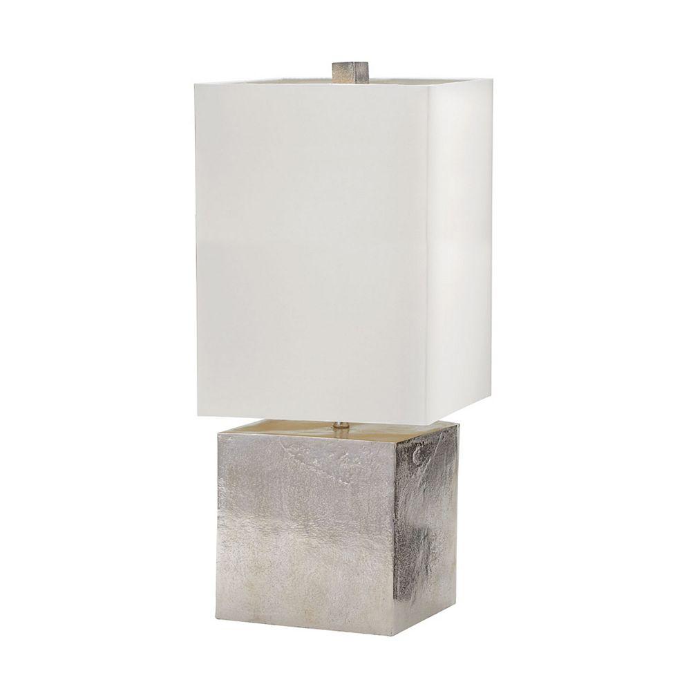 Titan Lighting Lampe de table Cement Cube de 24po au fini nickel