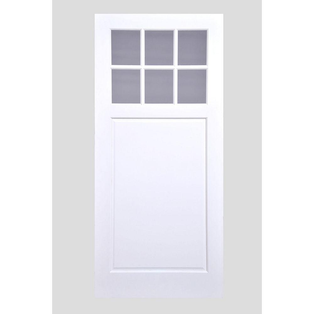 Milette Porte de grange de style champêtre avec verre clair