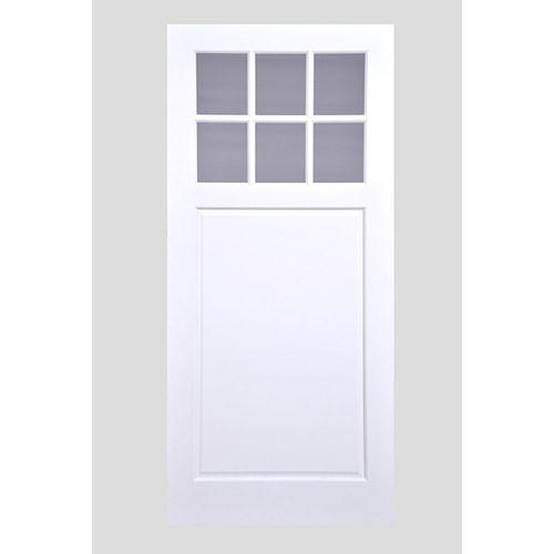 Porte de grange de style champêtre avec verre clair