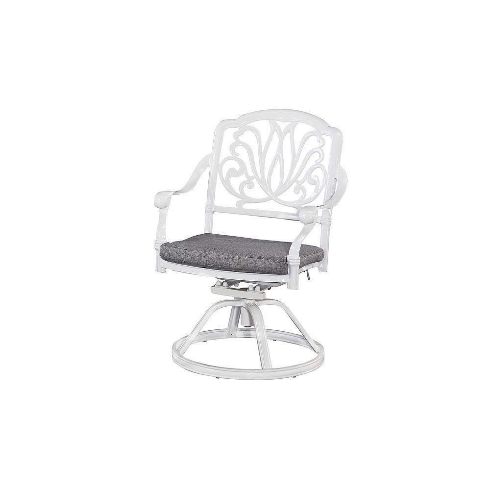 Home Styles Blossom floral blanc chaise w / Cushion