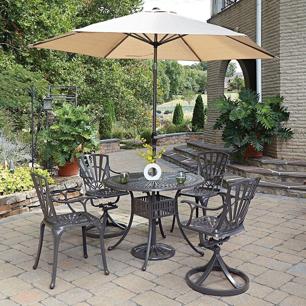Home Styles Ensemble dinant 5PC Largo w / parapluie