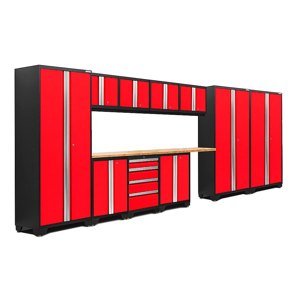 NewAge Products Inc. Bold Series Red Cabinet Set (12-Piece)