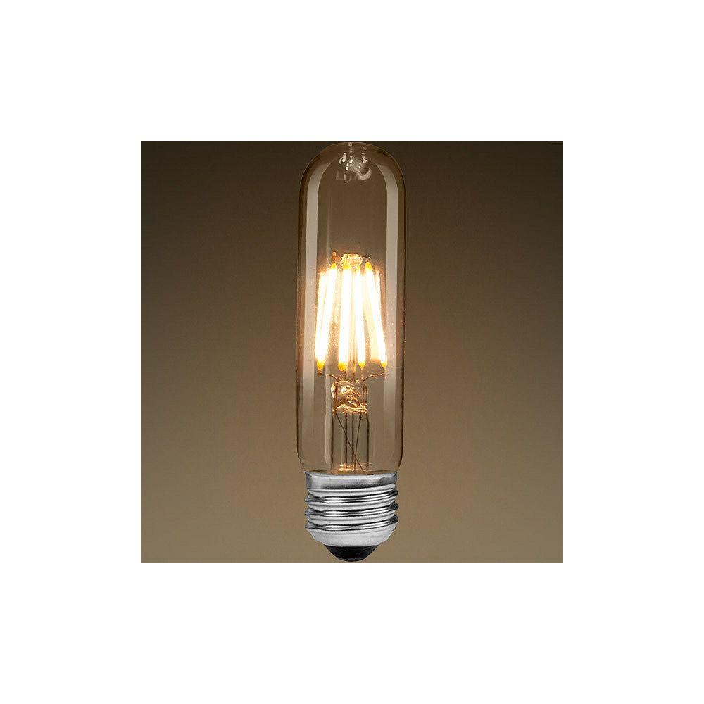 Strak LED 40W Equivalent Clear Filament 2700K T10 Edison Base E26 400LM CRI90 Dimmable LED Light Bulb (4-Pack)