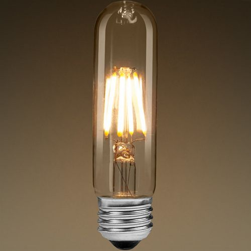 40W Equivalent Clear Filament 2700K T10 Edison Base E26 400LM CRI90 Dimmable LED Light Bulb (4-Pack)