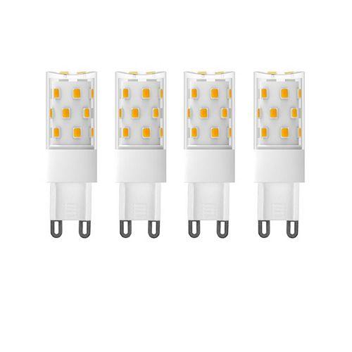70W Equivalent (3000K) G9 CRI80 Dimmable CETL LED Light Bulb (4-Pack)