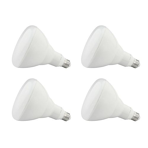 14W=100W Warm White (2700K) BR40 Dimmable LED Light Bulb (4-Pack)