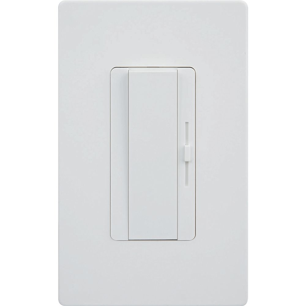 Strak LED 3 Way/1 Way  Universal Dimmer with Adjustment Dial and Screwless Wall Plate 0-100% Dimming Range