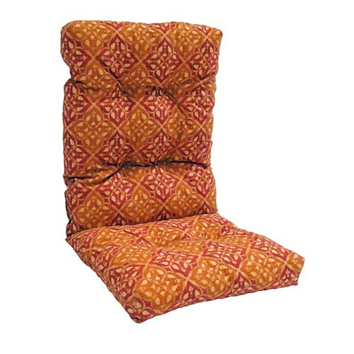 Highback Cushion for Patio Conversation Chair in Brown