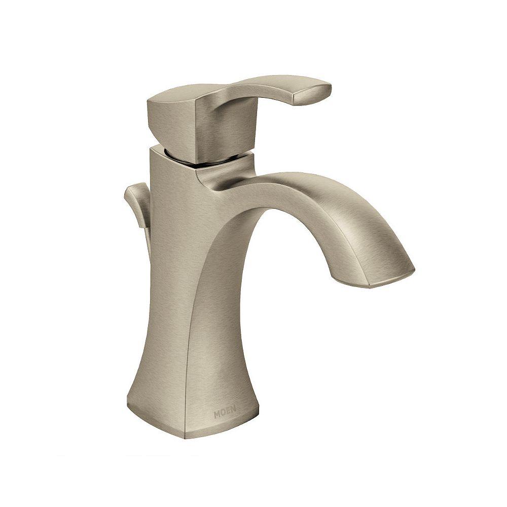 MOEN Voss Single Hole Single-Handle High-Arc Bathroom Faucet in Brushed Nickel
