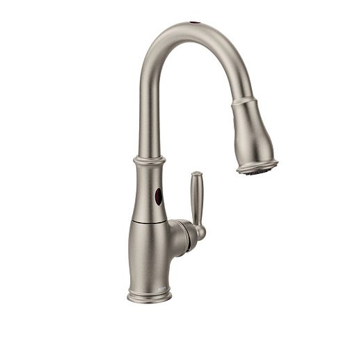 Brantford Single-Handle Pull-Down Sprayer Touchless Kitchen Faucet with MotionSense in Spot Resist Stainless