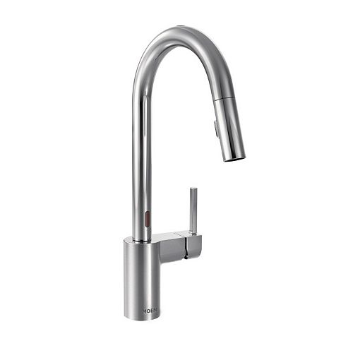 Align Single-Handle Touchless Pull-Down Sprayer Kitchen Faucet with MotionSense and Power Clean in Chrome