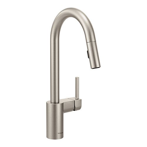 MOEN Align Single-Handle Pull-Down Sprayer Kitchen Faucet with Reflex and Power Clean in Spot Resist Stainless