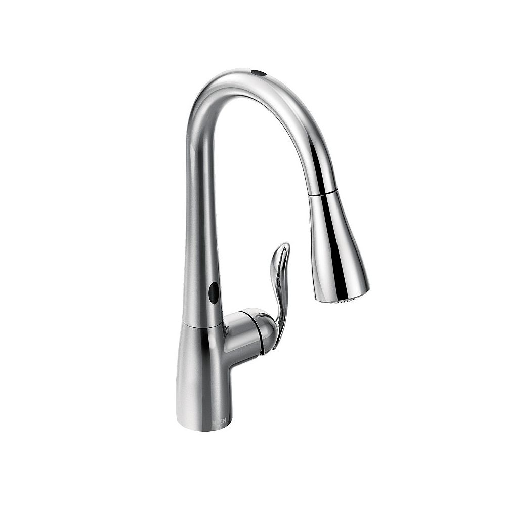 Moen Arbor Single Handle Pull Down Sprayer Touchless Kitchen Faucet With Motionsense In Ch The Home Depot Canada