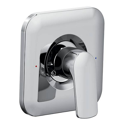 Rizon Posi-Temp Rain Shower Shower Only Faucet Trim Kit In Chrome (Valve Sold Separately)