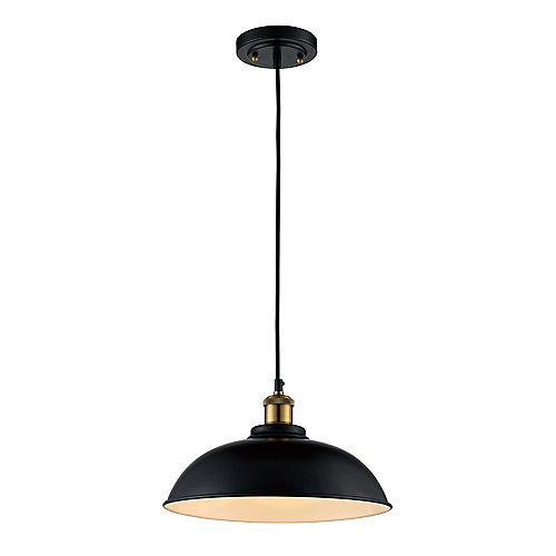 12-inch 1-Light Metal Bowl Pendant Light Fixture