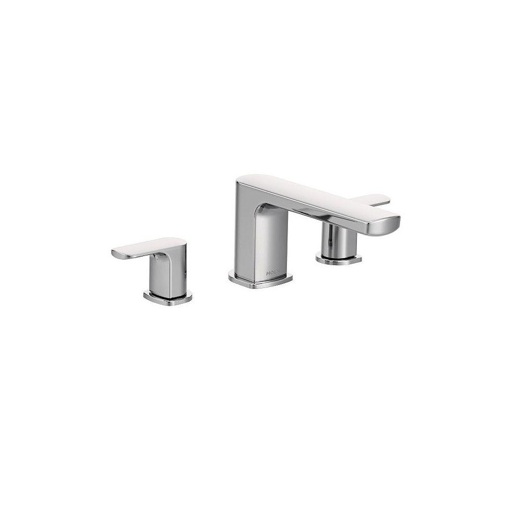 MOEN Rizon 2-Handle Deck-Mount Roman Tub Faucet Trim Kit in Chrome (Valve non incluse)