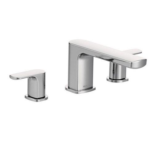 Rizon 2-Handle Deck-Mount Roman Tub Faucet Trim Kit in Chrome (Valve non incluse)