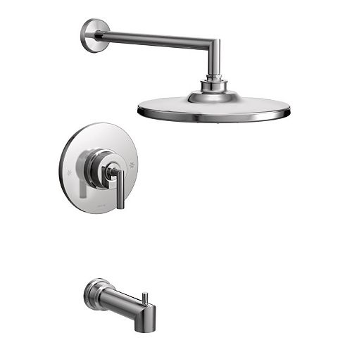 MOEN Arris Posi-Temp Single-Handle 1-Spray Tub and Shower Faucet Trim Kit in Chrome (Valve Not Included)