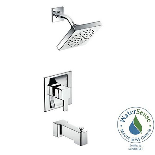 MOEN 90-Degree Posi-Temp Single-Handle 1-Spray Tub and Shower Faucet Trim Kit in Chrome (Valve Not Included)