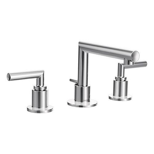 Arris 8-inch Widespread 2-Handle Bathroom Faucet Trim Kit in Chrome (Valve Not Included)