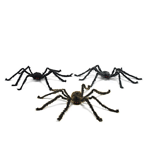 Plush Spider Halloween Decoration (Assorted Styles)