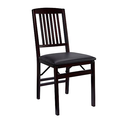 Mission Back Folding Chair - Espresso