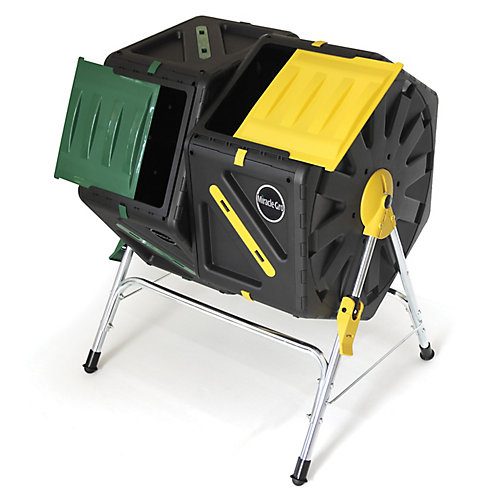Miracle-Gro Composteur à culbutage avec deux compartiments de 70 litres