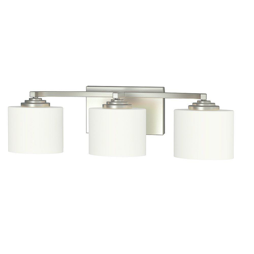 Home Decorators Collection Rochessi Collection 3-Light Integrated LED Vanity Fixture in Brushed Nickel