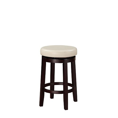 Round Swivel Backless Counter Stool  - Rice