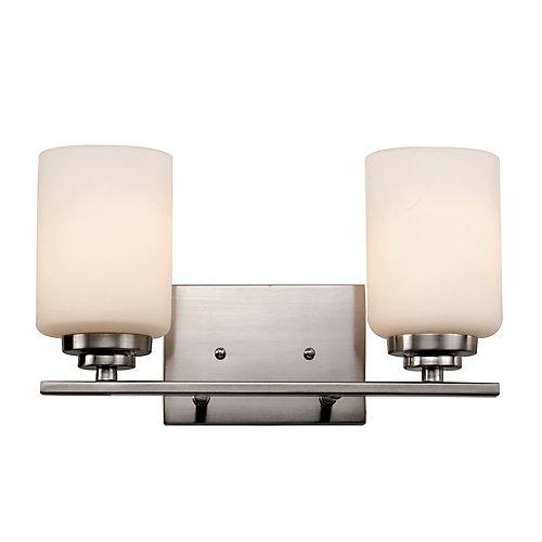 2- Light 60W Brushed Nickel Vanity Light