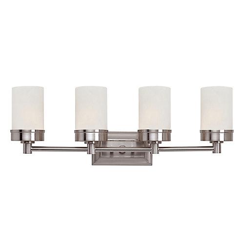 4-Light 60W Brushed Nickel Contemporary Style Vanity Light