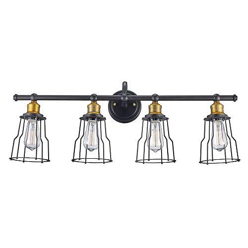 Bel Air Lighting Luminaire de meuble-lavabo à 4 ampoules