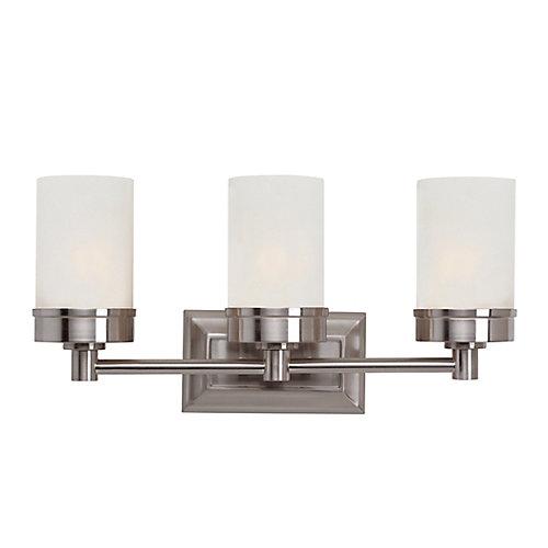 3-Light Vanity Light Fixture in Brushed Nickel