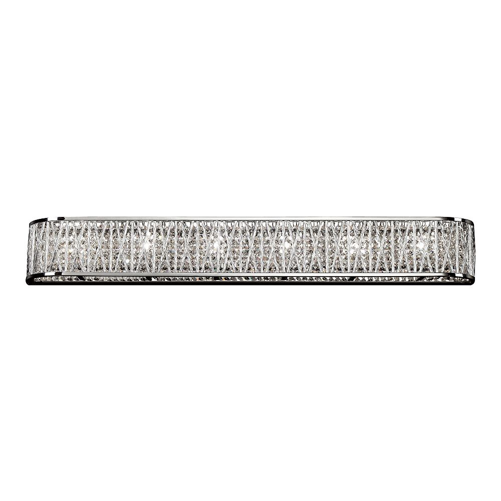 Bel Air Lighting 6-Light Chrome and Crystal Vanity Light Fixture