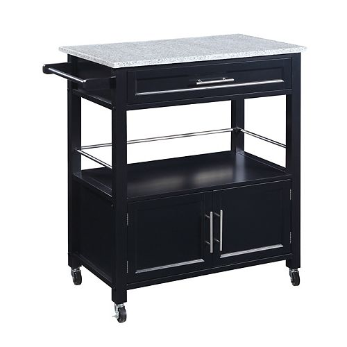 Cameron Kitchen Cart with Granite Top