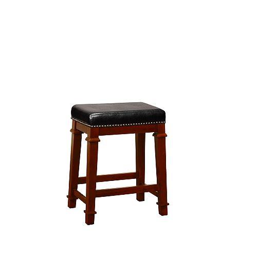 Linon Home Decor Kennedy Backless Counter Stool - Black