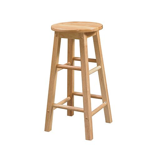 Classic Carpenters Round Seat Counter Stool - Natural