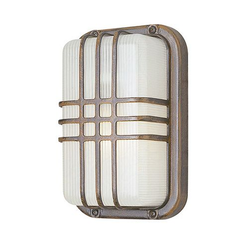 Bel Air Lighting 1-Light Outdoor Rust Wall or Ceiling Fixture