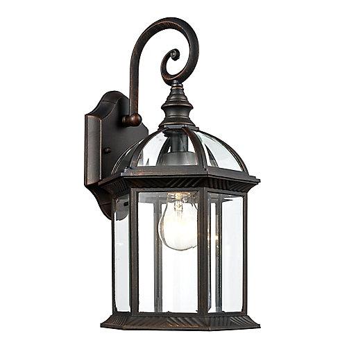 1-Light Outdoor Coach Lantern in Rust