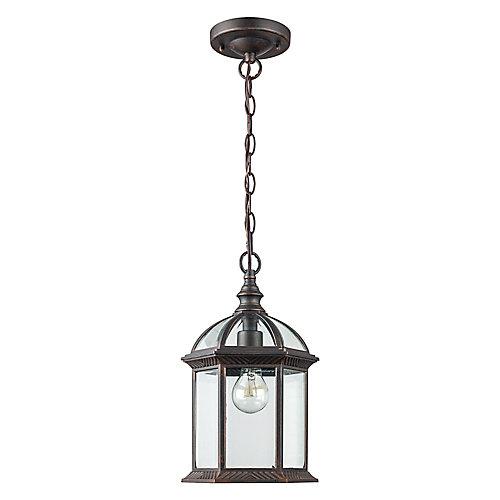 Lanterne rouille pendante d'extérieur à 1 lumière