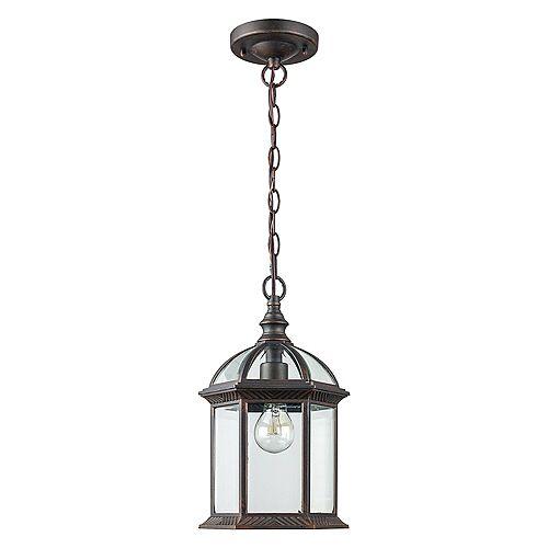 1-Light Outdoor Hanging Rust Lantern