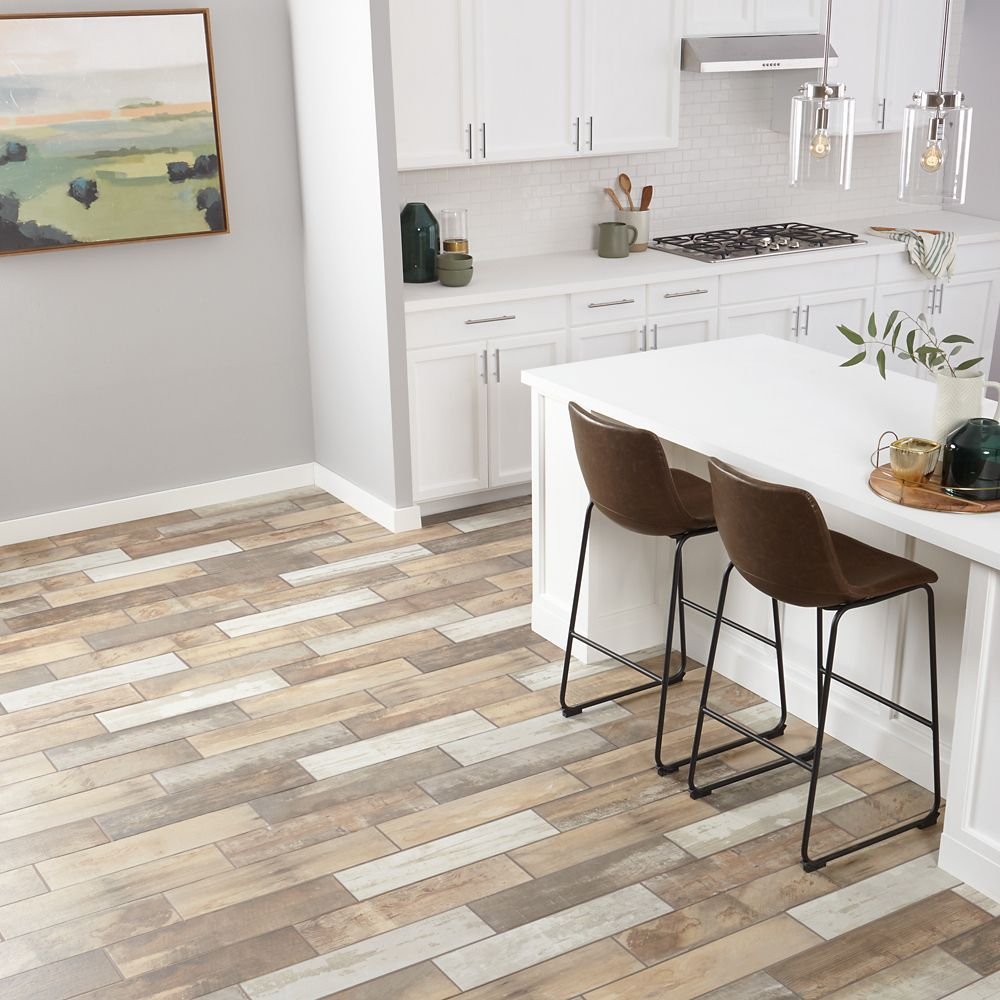 Montagna Wood Vintage Chic 6-inch x 24-inch Porcelain Floor and Wall Tile (14.53 sq. ft. / case)
