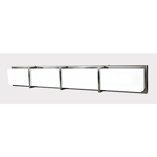 4-Light LED Bathroom Vanity Flushmount Light Fixture
