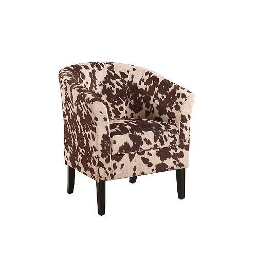 Linon Home Decor Simon Contemporary Microfibre Accent Chair in Brown