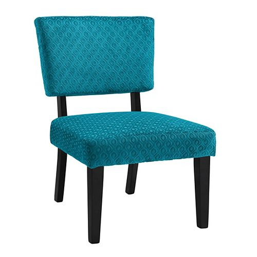 Taylor Modern Polyester/Polyester Blend Armless Accent Chair in Blue